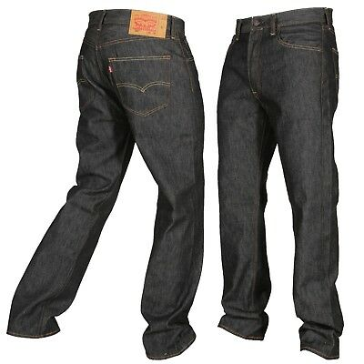 Levis 501 Button Fly Jeans Shrink To Fit Mens Many Sizes Colors New W Tags Black