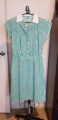 VINTAGE/RETRO Dress 1980s (1940s style) - VGC - Sz 6/8/10 FRENCH
