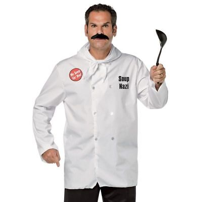 Seinfeld Soup Nazi Costume Adult Unisex Official TV Show Chef Halloween Cosplay
