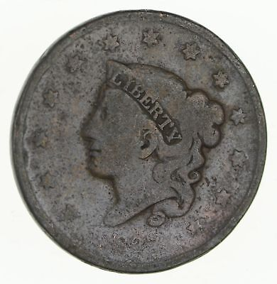 "EARLY 1837 Liberty ""Matron"" Head US LARGE CENT - TOUGH - Look at Redbook! *666"