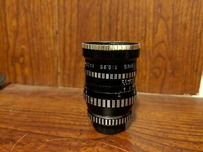:RARE: Zeika Nominar 25mm F0.95 C Mount lens-needs service