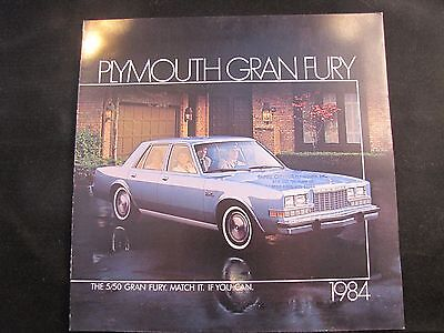 1984 Plymouth Gran Fury Original Sales Brochure