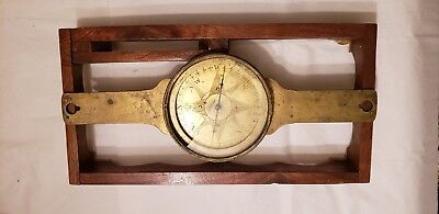 Large Old Brass Compass Nautical Ship Maritime