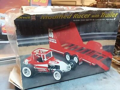 Revell modified racer with trailer 60s style.