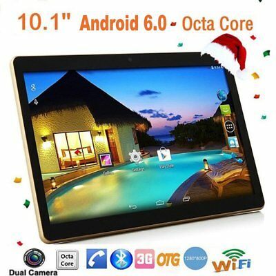 """10.1"""" Tablet PC Android 6.0 Octa-Core 128GB MAX Dual SIM Phone Phablet Xmas Gift"""