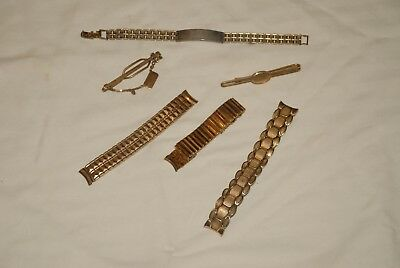 Vintage Mens Watch Band Lot Men, jewelry,Expansion,Gold & Silver Tone