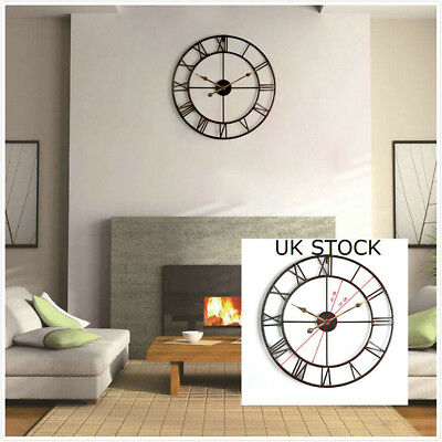 Traditional Vintage Wall Clock Roman Numerals Home Decor Large Round Clock 58cm