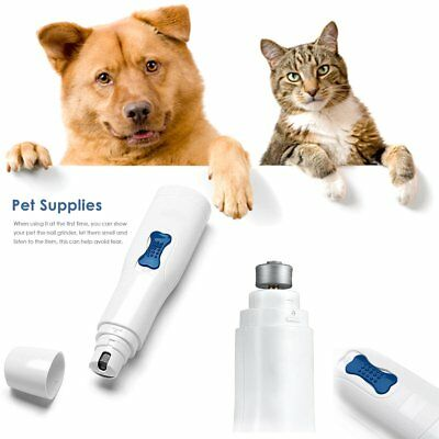 Premium Electric Pets Nail Grinder Paws Grooming Trimmer Dog Cat Clipper Tool FA