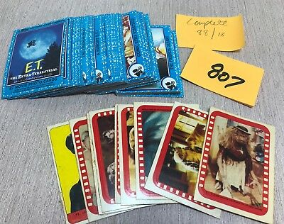 VTG Lot Movie ET Extra Terrestrial trading cards Stickers 1982 Topps