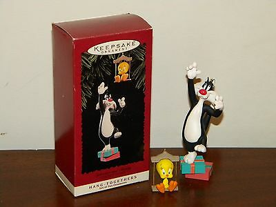 Sylvester & Tweety Hang-Togethers Looney Tunes 1995 MIB 2 Hallmark Ornaments