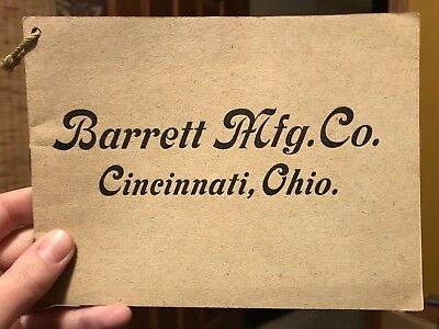 Barrett Manufacturing Company Cincinnati Ohio Roofing Paving Coal Paint Catalog