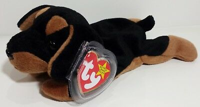 "TY Beanie Babies ""DOBY"" the Doberman Pinscher Dog - MWMTs! RETIRED! A MUST HAVE!"