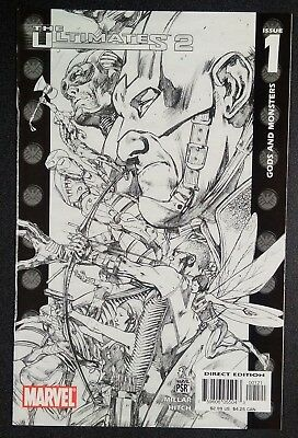 The Ultimates 2 #1 Sketch Cover Variant Avengers Marvel Comics Miller/hitch