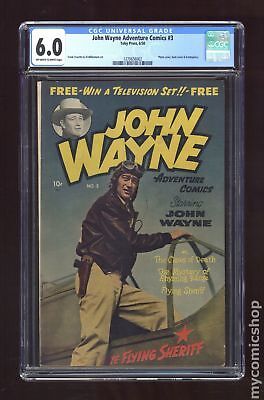 John Wayne Adventure Comics #3 1950 CGC 6.0 1270656002