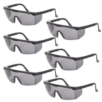 6Pack Anti-impact Protective Safety Goggles Glasses Dental Lab Work Outdoor Gray
