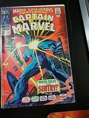 MARVEL SUPER-HEROES #13 1st app of Carol Danvers nice spine . Hd photos