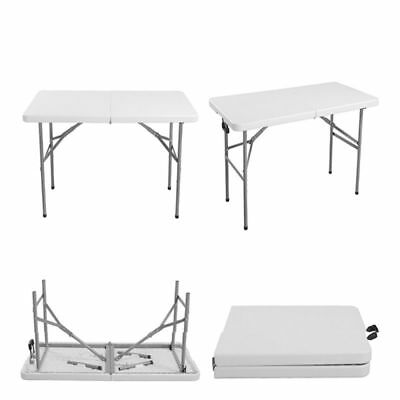 Folding Portable Trestle Table Picnic Camping Hiking BBQ Party Garden 2.6/4/6FT