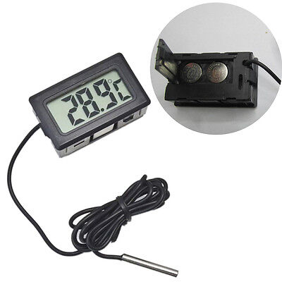 LCD Digital Temperature Humidity Thermometer Outdoor Hygrometer Meter w/Probe Vv