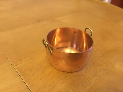 Good Vintage Miniature Copper & Brass Pan/Pot- 1940s/50's