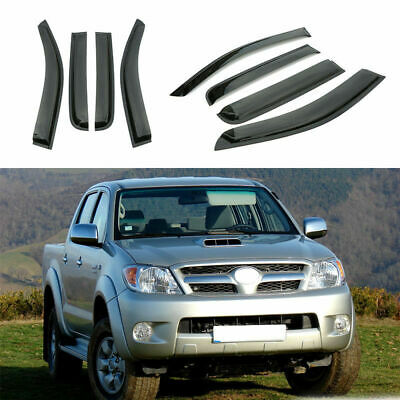 4pcs Weather Shields Window Visor fit for Toyota Hilux/VIGO Double Cab 2005-15