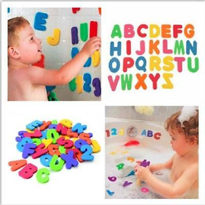 UK Kids Foam Number 24 Letter Baby Bath Toddler tub Floating Early Education Toy