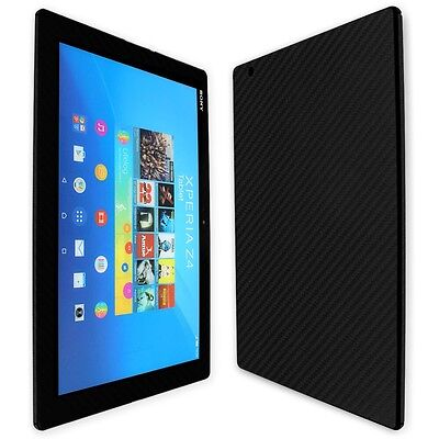Skinomi Carbon Fiber Black Skin+Clear Screen Protector for Sony Xperia Z4 Tablet