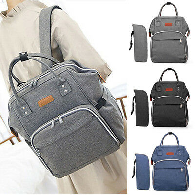 Baby Diaper Nappy Mummy Changing Bag Backpack Multi-Function Large Travel Bag UK