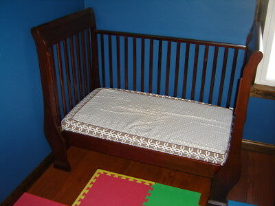 Pottery Barn Sleigh Crib Convertible Toddler Bed Espresso with mattress Day Bed