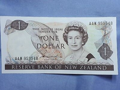 $1 NZ  BANK NOTE (Hardie)