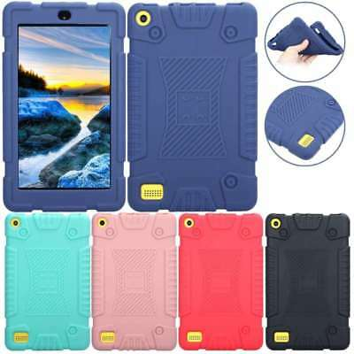 "Shockproof Soft Silicone Case Cover For 7"" Amazon Kindle Fire 7 HD 8 2017 Tablet"