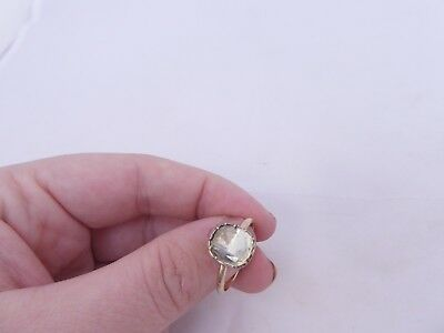 Fine foiled domed back crystal late 17th- early 18th century 9ct gold ring