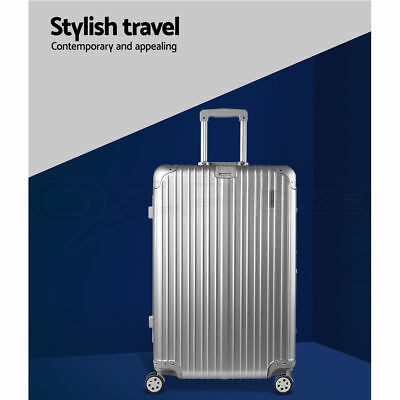 Wanderlite Luggage 28 Suitcase Trolley Set TSA Hard Case Lightweight Aluminum
