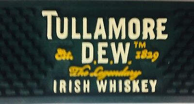 Tullamore Dew Irish Whisky Rubber Bar Rail Spill Mat - Man Cave - GC Home Bar!