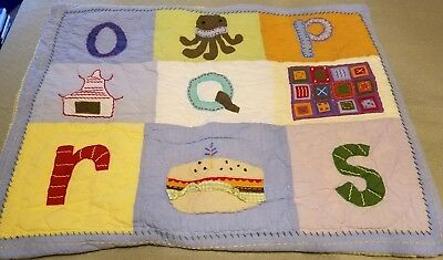 Pottery Barn Kids A to Z Standard SHAM  Alphabet  quilted