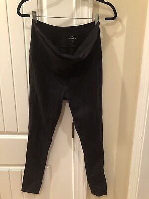 Athleta Chaturanga Maternity Leggings L Large Over Belly Full Panel