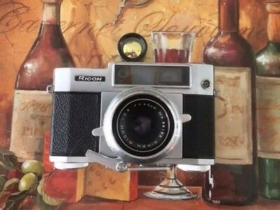Vintage Ricoh 500 35mm Rangefinder Camera With Accessories In Good Condition