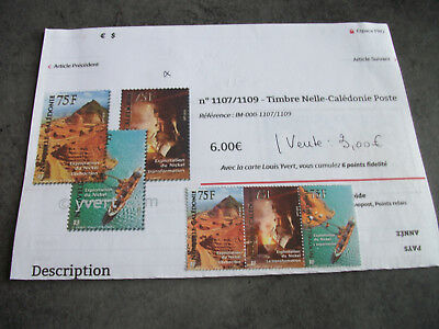1 Lot 3 Timbres Neufs Nouvelle Caledonie 2010 Y.t.n°1107/1109