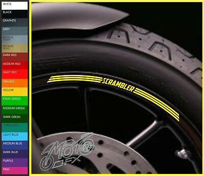 8 x Ducati SCRAMBLER Wheel Rim Decals Stickers - 20 colours - 800 1100 sled icon