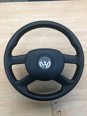 Vw Volkswagen Polo Mk4 4 Spoke Steering Wheel & Airbag 6Q0419091R 1T0880201E
