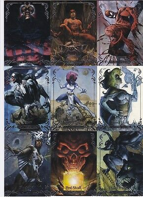 2018 Upper Deck Marvel Masterpieces Gold Signatures Set Tier 1 2 (1-63) LOT 61