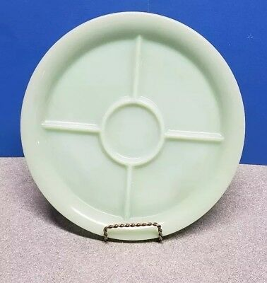 "FIRE KING WARE JADEITE GREEN ANCHOR HOCKING 9 3/4"" GRILL PLATE Jadite 5 SECTION"