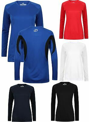 Spalding Ladies Essential Long Sleeve Fitness Gym Wicking T-Shirt  XS – XL