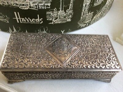 Vintage Silver Plate Jewelry Box