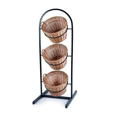3 Tier Wicker Basket Metal Stand Fruit, Vegetables, Crisps, Wine Shop (SP298)