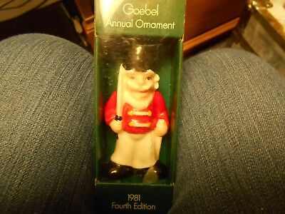 Vintage Goebel 1981 4th Annual   Christmas Ornament Soldier W Germany