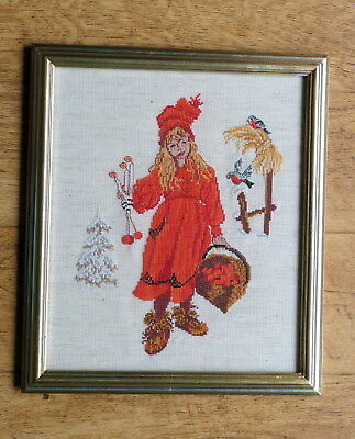 complete framed tapestry/cross stitch picture