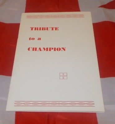 Johnny Cooke Liverpool Boxing Tribute Programme/Booklet/Brochure