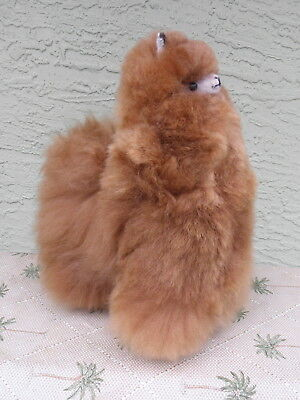 New Handmade By Our Artisan In Peru 11 - 12 inches Standing Plush Alpaca #73