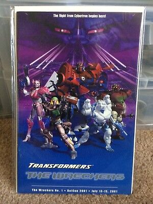 Transformers Botcon 2001 Comic The Wreckers Beast Wars Machines Mainframe Cover