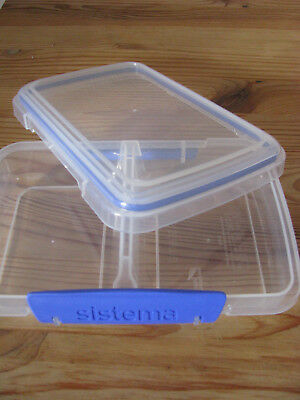 @@ SISTEMA @@  Brotbose Box unterteilt 2 Fächer transparent NEU!